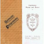 Souvenir Programme for the Dance held for Cambridge's Special Constables