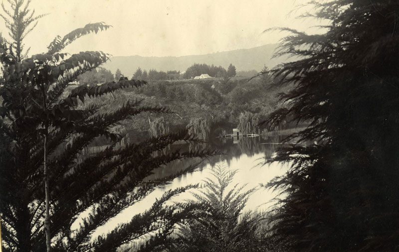 Lake Te Koutu, Cambridge, early 1900s