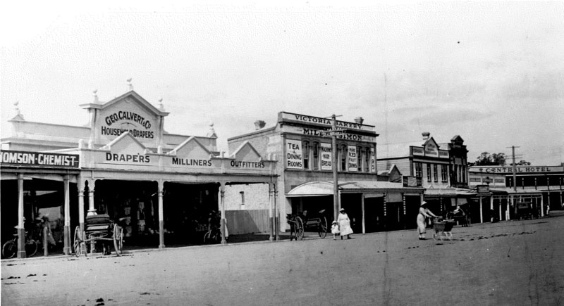 Victoria Street in the 1900s, Cambridge NZ