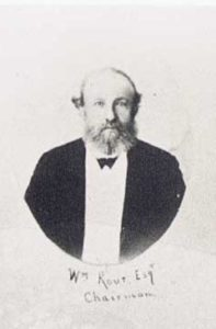 Black and white portrait of William Rout